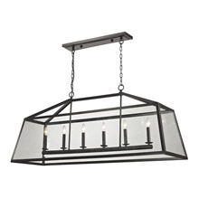 Elk Lighting 31509/6 Alanna Rectangular Chandelier Pendant