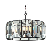 Elk Lighting 31567/6 Crystal Garrett 6 Light Pendant In Oil Rubbed Bronze