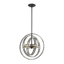 Elk Lighting 31660/3 Crystal Crystal Orbs 3 Light Pendant In Oil Rubbed Bronze