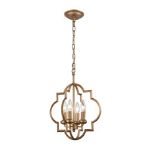 Elk Lighting 31826/4 4-Light Chandelier in Matte Gold
