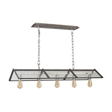 Elk Lighting 31963/5 Ridgeview 5 Light Chandelier In Weathered Zinc With Polished Nickel Accents