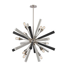 Elk Lighting 32233/10 Solara 10 Light Chandelier In Polished Nickel