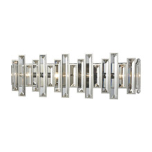 Elk Lighting 33011/4 4-Light Vanity Sconce in Polished Chrome with Clear Crystal