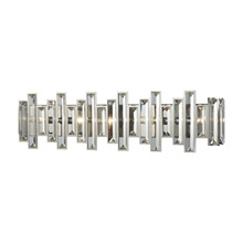 Elk Lighting 33012/5 5-Light Vanity Sconce in Polished Chrome with Clear Crystal