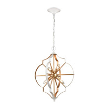 Elk Lighting 33395/4 4-Light Chandelier in Gold and White