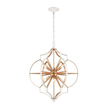 Elk Lighting 33396/6 6-Light Chandelier in Gold and White