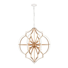 Elk Lighting 33397/8 8-Light Chandelier in Gold and White