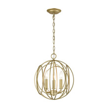 Elk Lighting 33415/3 3-Light Chandelier in Golden Silver