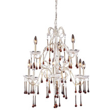 Elk Lighting 4003/6+3AMB Crystal Opulence Nine Light Chandelier