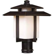 Asian outdoor lighting lamps beautiful elk lighting 421731 kanso outdoor post mount fixture mozeypictures Image collections