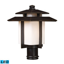 Outdoor pier mounted light fixtures lamps beautiful elk lighting 421731 led kanso 1 light outdoor led pier mount in hazlenut mozeypictures Images