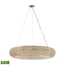 Elk Lighting 45293/12-LED Crystal Crystal Ring 12 Light LED Chandelier In Polished Chrome