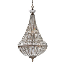 Elk Lighting 46048/6+3 Crystal Empire 9 Light Pendant In Mocha And Clear Crystal