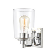 Elk Lighting 46620/1 1-Light Vanity Light in Polished Chrome with Clear Glass