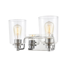 Elk Lighting 46621/2 2-Light Vanity Light in Polished Chrome with Clear Glass