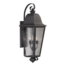 Elk Lighting 47103/4 Forged Brookridge 4 Light Outdoor Sconce In Charcoal