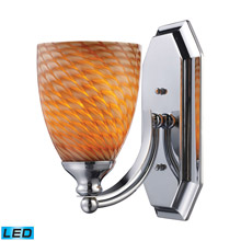 Elk Lighting 570-1C-C-LED Bath And Spa 1 Light LED Vanity In Polished Chrome And Cocoa Glass