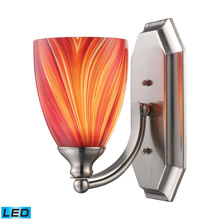 Elk Lighting 570-1C-M-LED Bath And Spa 1 Light LED Vanity In Polished Chrome And Multi Glass