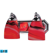 Elk Lighting 570-2C-CY-LED Bath And Spa 2 Light LED Vanity In Polished Chrome And Candy Glass