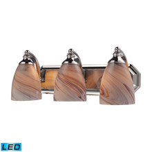 Elk Lighting 570-3C-CR-LED Bath And Spa 3 Light LED Vanity In Polished Chrome And Creme Glass