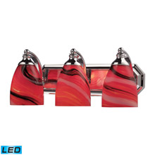 Elk Lighting 570-3C-CY-LED Bath And Spa 3 Light LED Vanity In Polished Chrome And Candy Glass