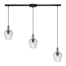 Elk Lighting 60066-3L Menlow Park 3 Light Pendant In Oil Rubbed Bronze