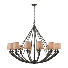 Elk Lighting 63075/12 Morrison 12 Light Chandelier In Oil Rubbed Bronze