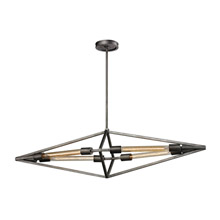 Elk Lighting 66893/4 Laboratory 4 Light Chandelier In Weathered Zinc