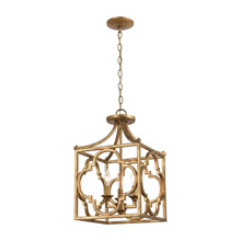 Elk Lighting 75125/3 3-Light Chandelier in Antique Gold
