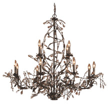 Elk Lighting 8055/8+4 Crystal Circeo Twelve Light Chandelier