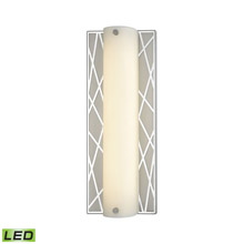 Elk Lighting 85130/LED 1-Light Vanity Sconce in Polished Stainless and Matte Nickel with Diffuser - Integrated LED