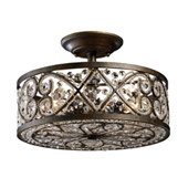 Crystal Amherst Semi-Flush Ceiling Fixture - Elk Lighting 11286/4