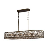 Amherst 8-Light Linear Chandelier in Antique Bronze with Clear Crystal - Elk Lighting 11289/8