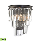 Crystal Palacial 1 Light Led Wall Sconce In Oil Rubbed Bronze - Elk Lighting 14215/1-LED