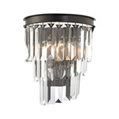 Crystal Palacial 1 Light Wall Sconce In Oil Rubbed Bronze - Elk Lighting 14215/1