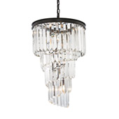 Crystal Palacial 6 Light Chandelier In Oil Rubbed Bronze - Elk Lighting 14217/6