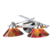 Contemporary Refraction Vanity Light - Elk Lighting 1471/2JAS