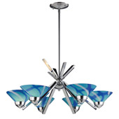 Contemporary Refraction 6 Light Chandelier - Elk Lighting 1475/6CAR