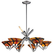 Contemporary Refraction 6 Light Chandelier - Elk Lighting 1475/6JAS