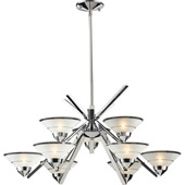 Contemporary Refraction Chandelier - Elk Lighting 1476/6+3