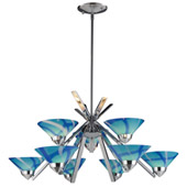 Contemporary Refraction 9 Light Chandelier - Elk Lighting 1476/6+3CAR