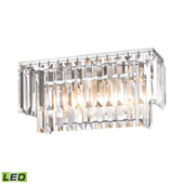 Crystal Palacial 2 Light Led Vanity In Polished Chrome - Elk Lighting 15211/2-LED