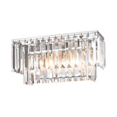 Crystal Palacial 2 Light Vanity In Polished Chrome - Elk Lighting 15211/2