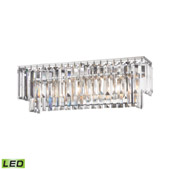 Crystal Palacial 3 Light Led Vanity In Polished Chrome - Elk Lighting 15212/3-LED
