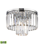 Crystal Palacial 1 Light Led Pendant In Polished Chrome - Elk Lighting 15213/1-LED