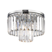 Crystal Palacial 1 Light Pendant In Polished Chrome - Elk Lighting 15213/1