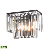 Crystal Palacial 1 Light Led Vanity In Oil Rubbed Bronze - Elk Lighting 15220/1-LED