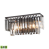 Crystal Palacial 2 Light Led Vanity In Oil Rubbed Bronze - Elk Lighting 15221/2-LED