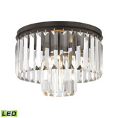 Crystal Palacial 1 Light Led Pendant In Oil Rubbed Bronze - Elk Lighting 15223/1-LED
