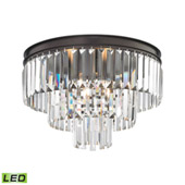 Crystal Palacial 3 Light Led Semi Flush In Oil Rubbed Bronze - Elk Lighting 15225/3-LED